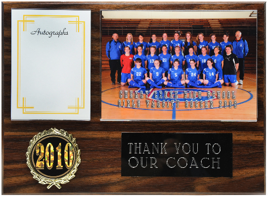 Autograph Coach Appreciation Plaque