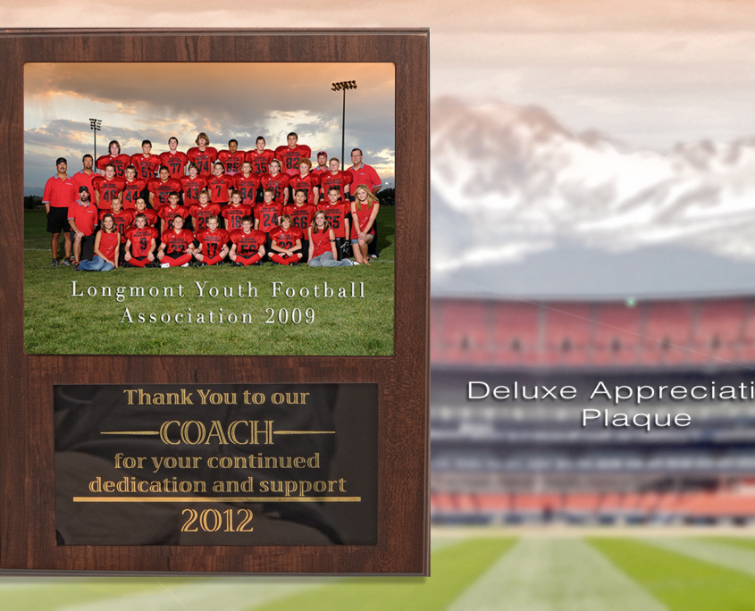 Deluxe Coach Appreciation Plaque | Imagetek Sports Photographers
